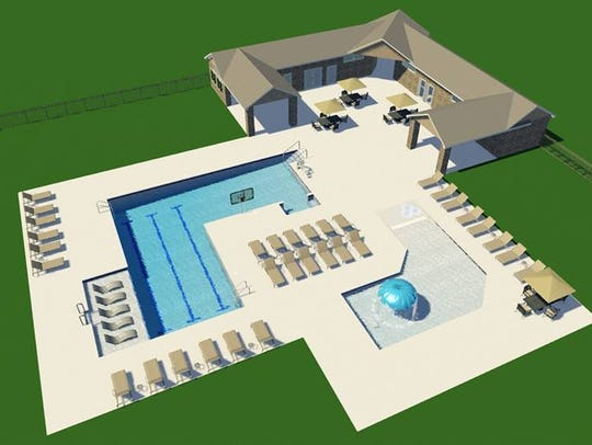 A rendering of the new pool area at the Stevens Point