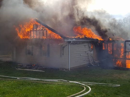 This home on the 5300 block of Pleasant Chapel Road is considered a total loss after a Monday morning fire.