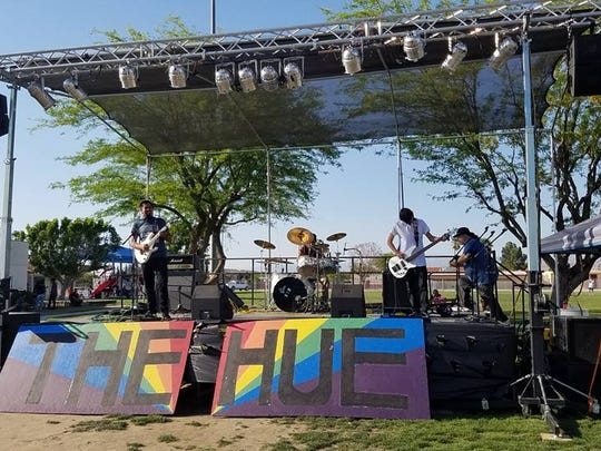 A band performs during The Hue Music and Arts Festival