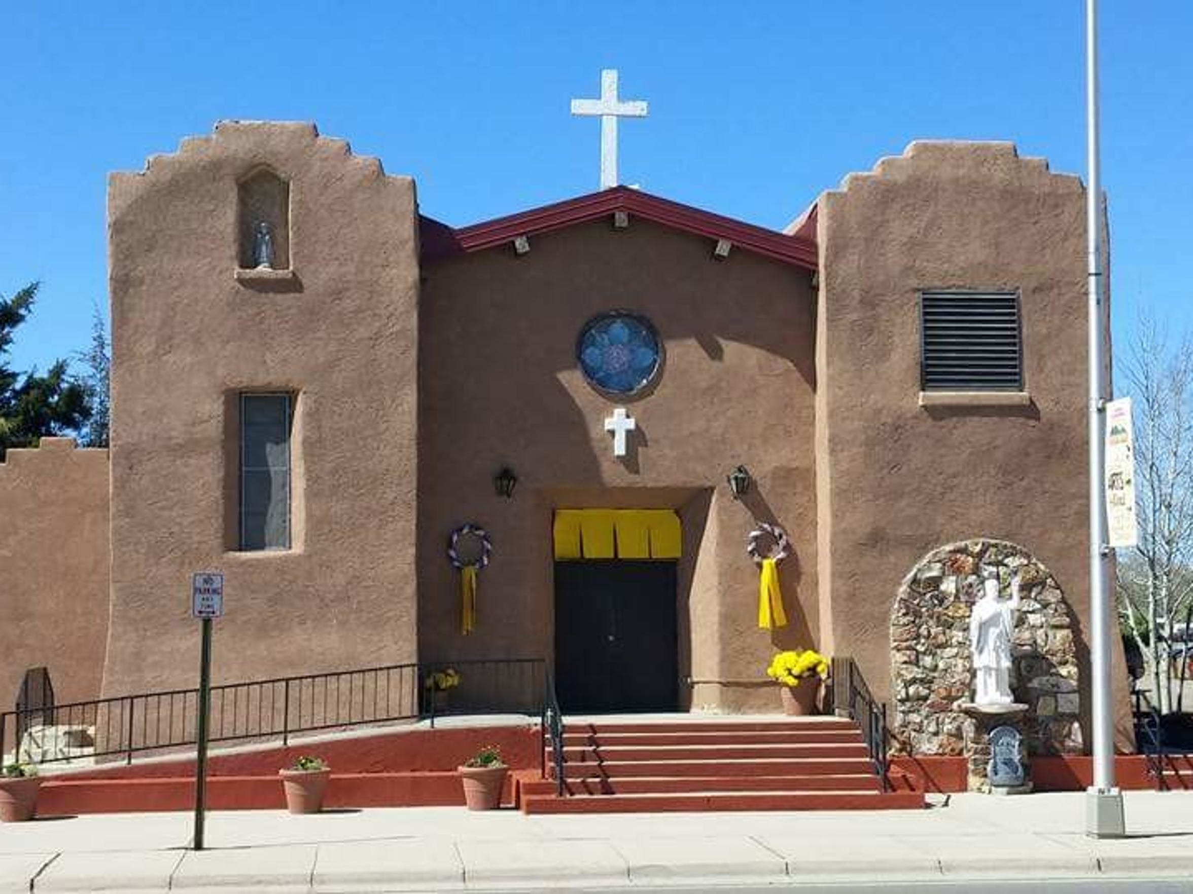 St. Francis Xavier Church in Clayton, N.M., the site of a 2009 funeral Mass for Bo Wilson's uncle.