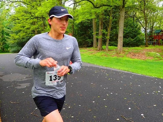 Fayetteville's Mac Coleman competes in last weekend's Chambersburg Beer Runners 10K/Half Marathon. CBR strives to create a welcoming, comfortable and confidence-building environment for walkers/runners, with the reward of beer (or root beer) waiting beyond the finish line.