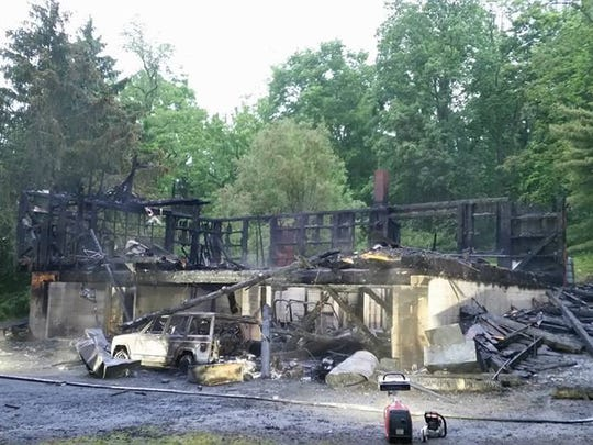 A fire that began early Tuesday morning completely