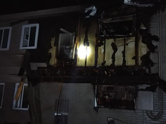 South Lyon firefighters found a fire had spread to