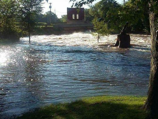 Flooding hit Friendship near the Friendship Dam, Saturday,