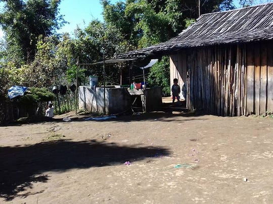 A typical homestead in San Francisco del Olvido, where Tyler Clark of Allouez hopes to build a library.