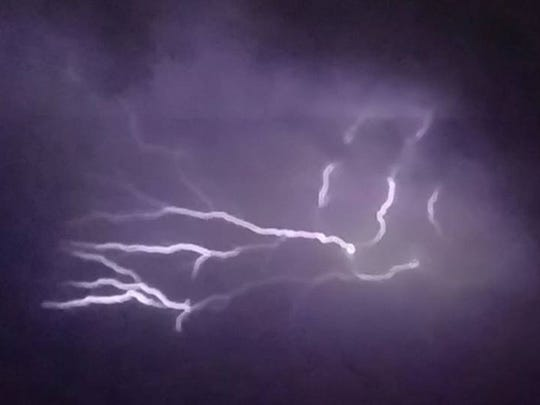 A severe thunderstorm Friday night brought drenching rains, lightning, deafening thunder, and hail to the valley and surrounding regions, prompting road closures, power outages and minor property damage.