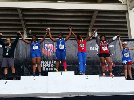 Olivia Prescott makes it to the top of the podium at