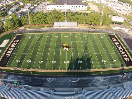 Jasper had new turf installed last season in what is now called Joe Rohleder Field at Jerry Brewer Alumni Stadium.