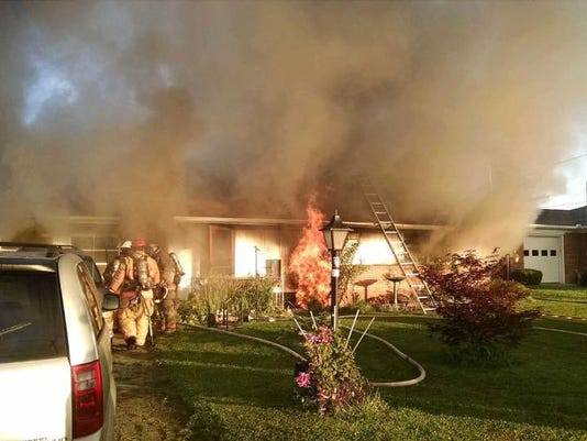 House fire in 4300 block of Board Road in East Manchester Township