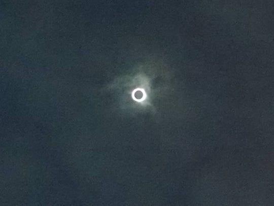Corona above Franklin, North Carolina, during the Aug.