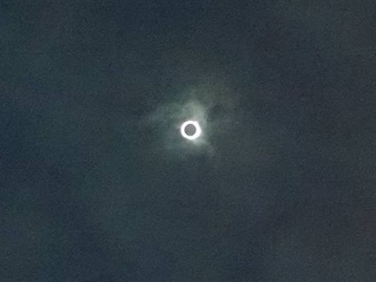 Corona above Franklin, North Carolina, during the Aug.