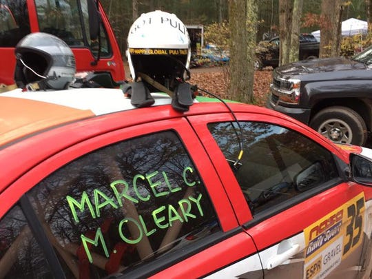Marcel Ciascai's car for the 2016 Empire State Performance Rally in Narrowsburgh, New York.