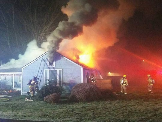 A two-alarm fire destroyed a Keizer home Saturday.