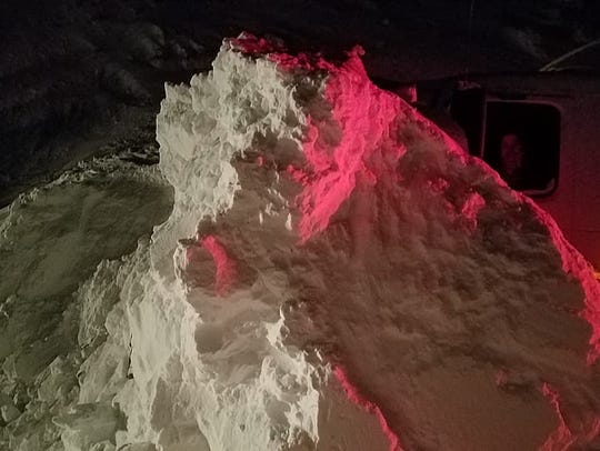 Crews worked through the night to clear Montana Highway