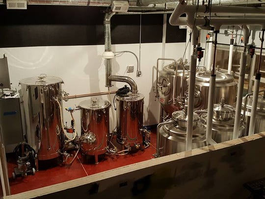 Brewing equipment at Eponymous Brewing Co.