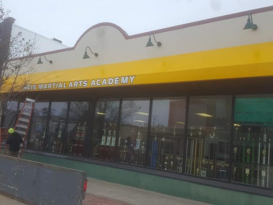 The awning is now up at Reis Martial Arts Academy,