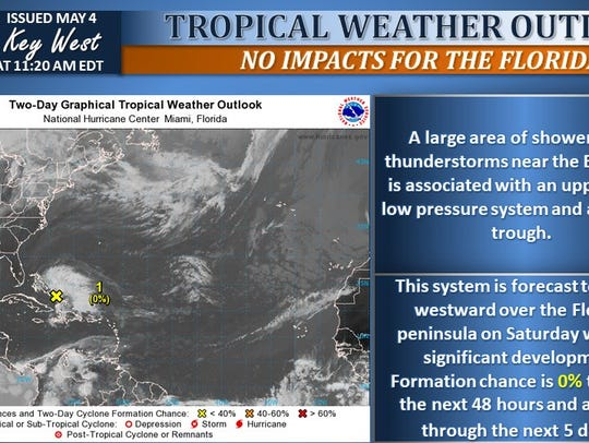 Tropical weather outlook issued May 4, 2018.