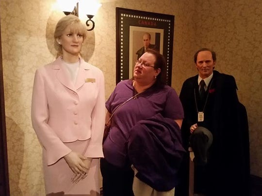 Diane Busko at Louis Tussaud's Waxworks in Niagara
