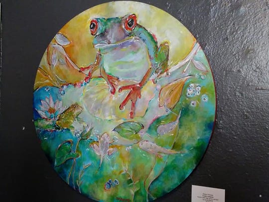 """Lively Leapers"" by Sharon Brooks, one of 42 artist-designed"