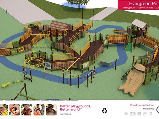 Rendering of the future Shaw Family Playground.