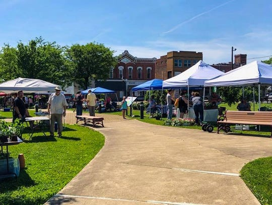 The farmers market at Founders Park