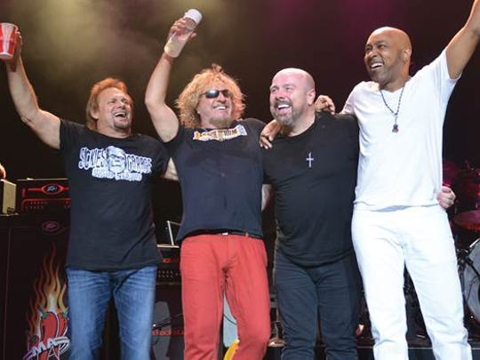 The Circle, performing Saturday at Fantasy Springs Resort Casino, is (from left) Michael Anthony, Sammy Hagar, Jason Bonham and Vic Johnson.