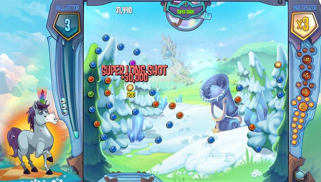 Bjorn uses the Super Guide power in a level of puzzle game 'Peggle 2' for the Xbox One.