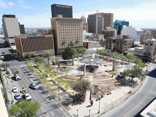 San Jacinto Plaza is still under construction, but that could be completed soon.