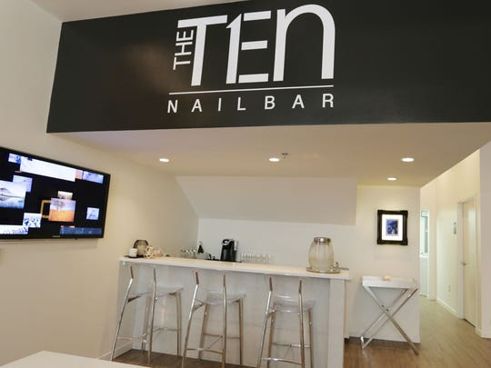 The TEN Nail Bar located at 1215 Griswold in downtown Detroit is a sleek new nail salon.