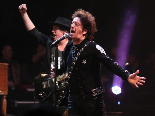 Willie Nile, pictured performing for Light of Day in the Paramount Theatre in Asbury Park.