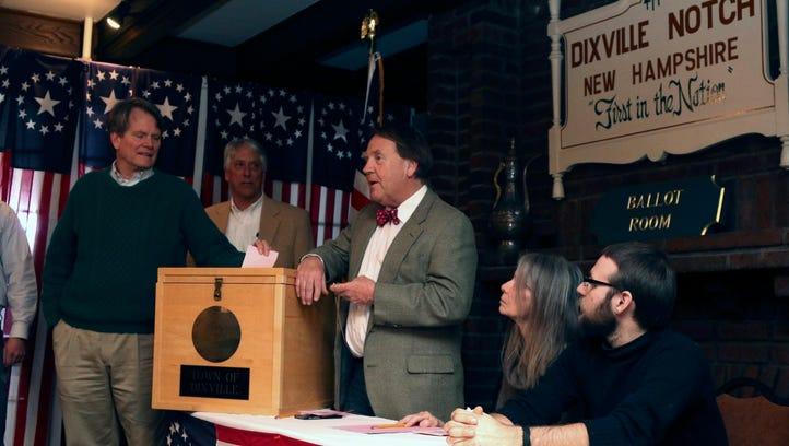 Jeffrey Stevens (L), one of nine registered voters,