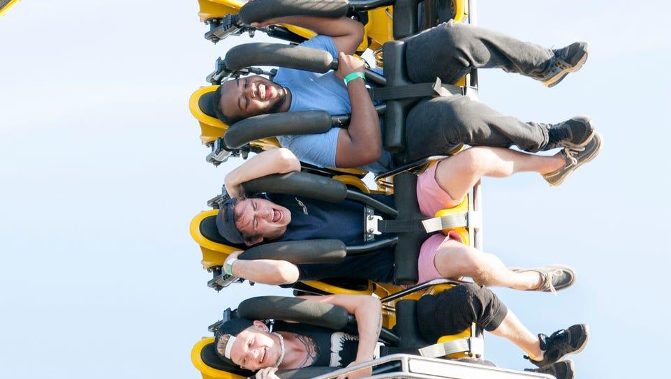 People enjoy rides at the Pensacola Interstate Fair