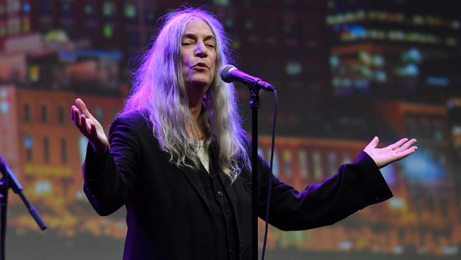 Patti Smith performs during the American Eagle Awards honoring Smith, Crystal Gayle and Harry Shearer at Music City Center on July 13, 2017, in Nashville.