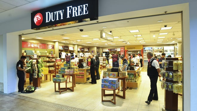 The DFS Duty Free store at A.B. Won Pat International Airport Authority, photographed in May 2013.