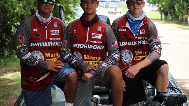 Brookwood anglers made school history in late July, bringing home only the high school's second ever state championship. Panther Bass Club coach Jamie Cox, left, who was the boat captain, and T.J. Cox and Dalton Cochran won the Alabama Bass Nation High School State Championship on Lake Guntersville, and, with the win, qualified to compete for the high school national championship in October.