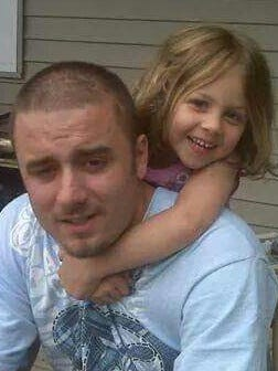 Daniel Martz with his daughter, Jayda.