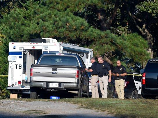 Tennessee Bureau of Investigation officers investigate