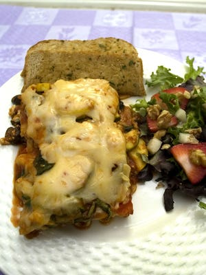Vegetable Lasagna at Sandra's .