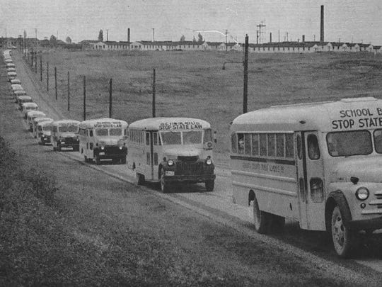 As one of the largest consolidated high schools in Virginia in one of the state's biggest counties, a lot of buses were needed to take students to and from school each day.
