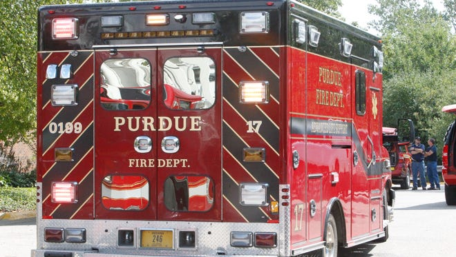Purdue paramedics rushed a construction worker to the hospital Tuesday morning after a 30-foot fall inside the Duncan Annex, according to Purdue News Service.