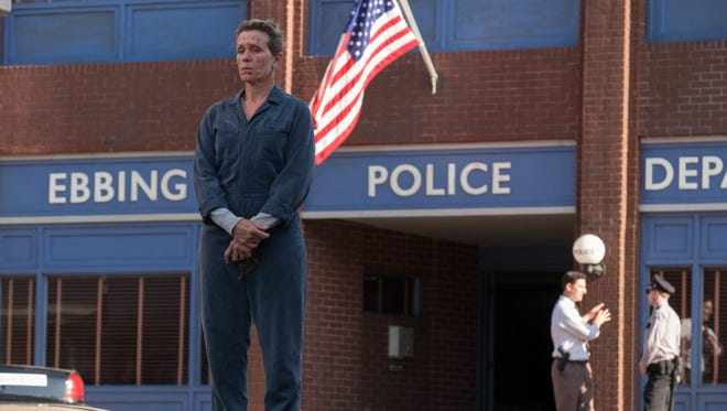 "Mildred (Frances McDormand) wants justice in ""Three Billboards Outside Ebbing, Missouri."""
