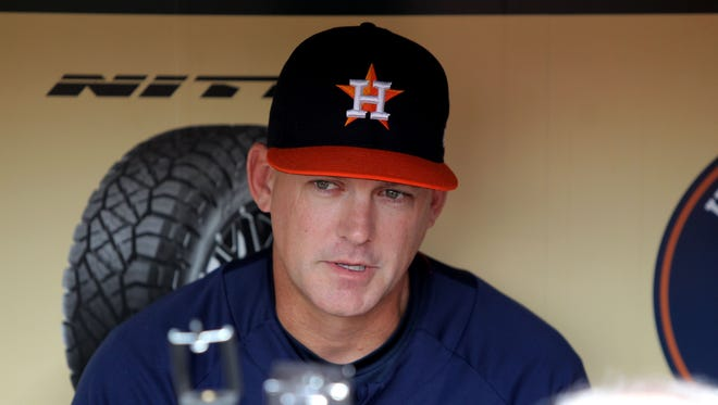 Houston Astros manager A.J. Hinch opened his media availability discussing the events at Santa Fe High School.