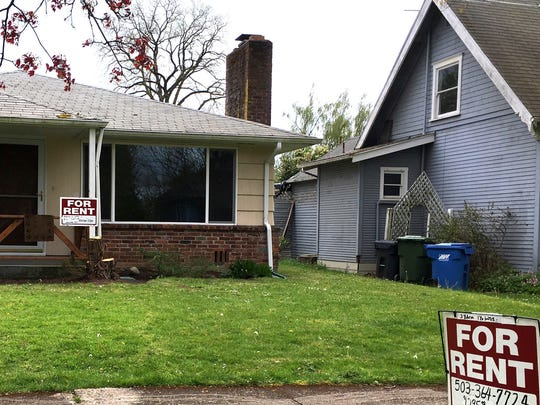 For rent signs is displayed in front of a house in Salem.