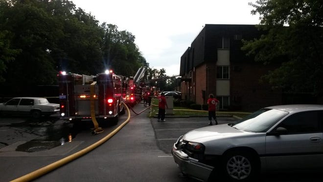 At least 50 people were displaced after a fire in the North Creek Apartments Friday evening.