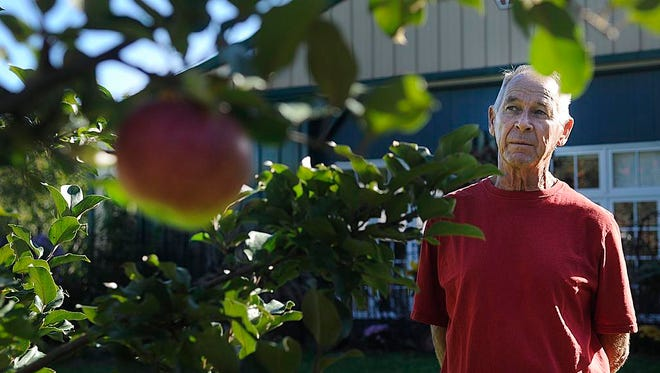 Menke picks 60,000 apples each season and says that once the season is over, he takes a break from eating apples.