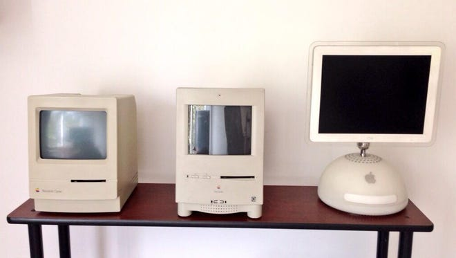 """""""Oldies but goodies. They all work OK, only the Mac Classic needs a new HD. Models: Macintosh Classic, Color Classic, iMac 15-inch Early 2003."""""""