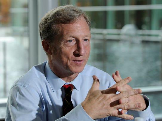 Tom Steyer, a billionaire environmentalist, is among