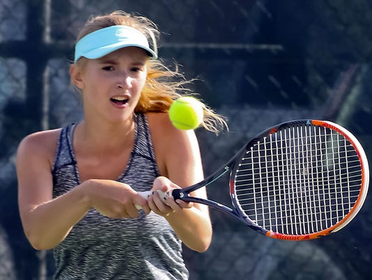 Brookfield East at Brookfield Central Girls Tennis 1