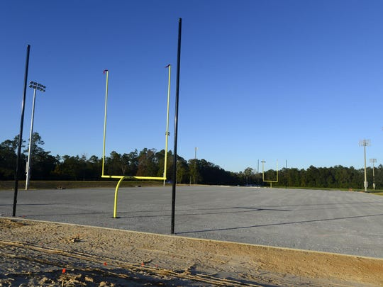 UWF's football practice facility is taking shape with a foundation base set for instillation of artificial turf that will become the AstroTurf practice field the Argos will use beginning in January.