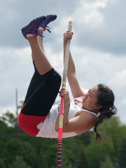 Hoosier Conference Track. Robin Zhang. By Jerry Schultheiss for Journal & Courier.